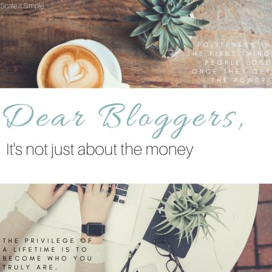 Dear Bloggers